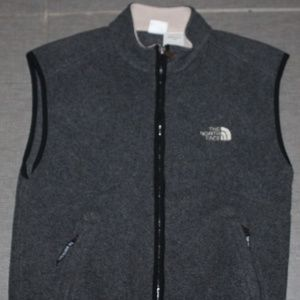 Vintage 90's THE NORTH FACE Gray Fleece Vest USA M